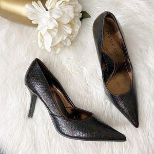 Rampage Maria Brown Pointed Toe Heels
